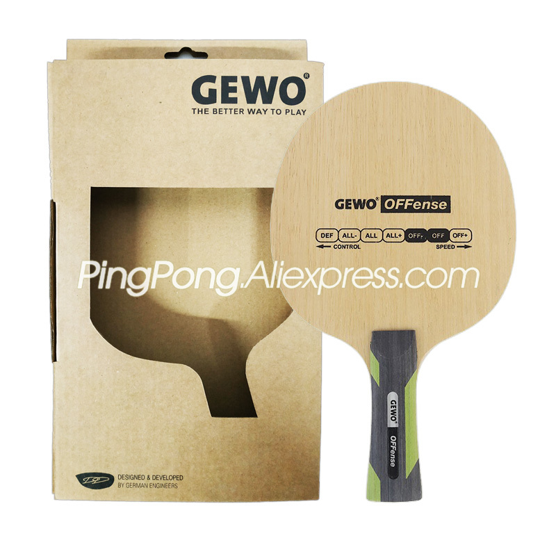 GEWO POWER OFFENSE Table Tennis Blade / Racket (OFF- & OFF) 5 Ply Wood Original GEWO Ping Pong Bat / Paddle