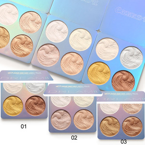 4 Colors Highlighter Makeup Shimmer Baking Powder Highlighter Palette Skin Brighten Highlight Face Contour Bronzer Cosmetics