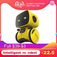 Zabawki zabawkowe roboty dla dzieci inteligentny RC inteligentny robot inteligentna kontrola głosu DIY zabawka dla ciała z tańczącym modelem mrugania dla produktów dla dzieci tanie tanio Sex Zabawki Zasilanie bateryjne Żołnierz gotowy produkt Wyroby gotowe Unisex 12 cm Z tworzywa sztucznego None 13X9 5X9 5cm