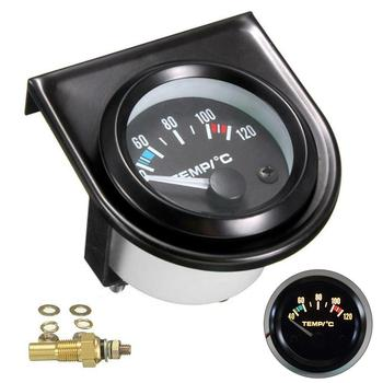 2 52mm Digital Car Water Temp Temperature Gauge 12V 40-120℃ LED With With Water Temp Joint Pipe Sensor Adapter Auto Meter auto sensors water temp switch for audi automotive temperature sensor 059 919 501 078 919 501b