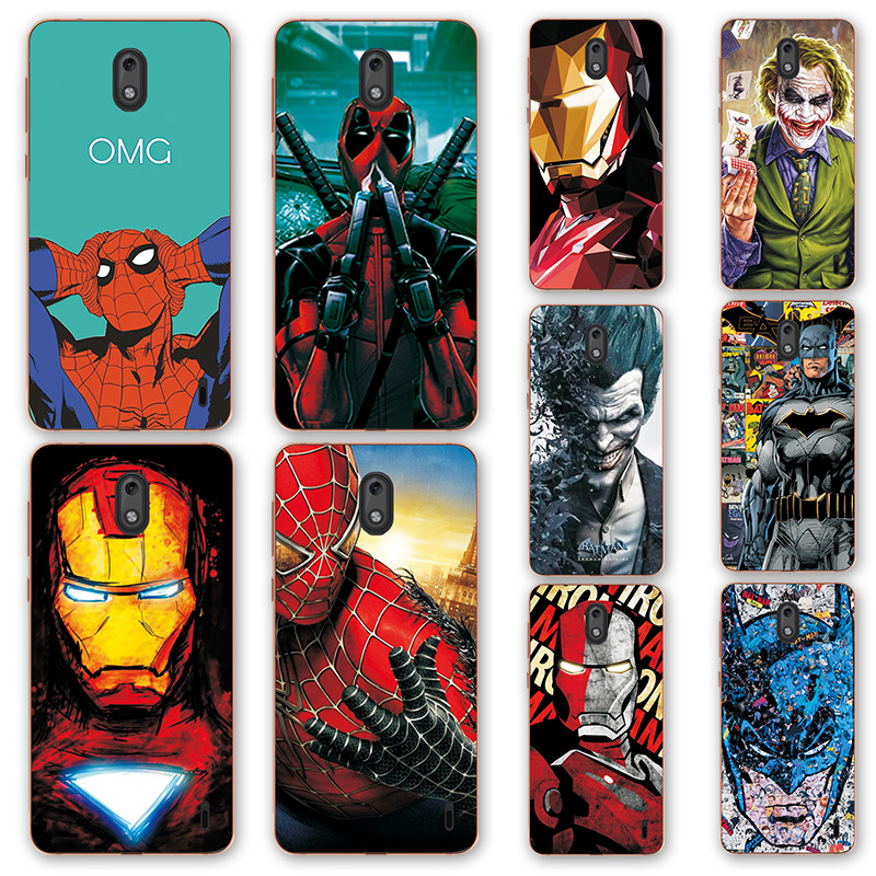 adlucky Iron Man The Avengers Phone Case For <font><b>Nokia</b></font> <font><b>2</b></font> Charming Spiderman Cover For Nokia2 TA-<font><b>1029</b></font> TA-1035 Case For <font><b>Nokia</b></font> <font><b>2</b></font> 5.0