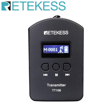 Retekess tt106 uhf transmissor sem fio profissional para o sistema de guia turístico sem fio conferência tour igreja simultânea