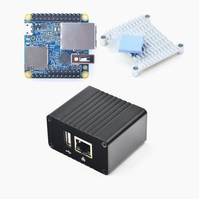Nanopi neo2 v1.1 lts placa de desenvolvimento mais rápido do que raspberry pi 40x40mm 512 mb/1 gb ddr3 ram) braço Cortex A53