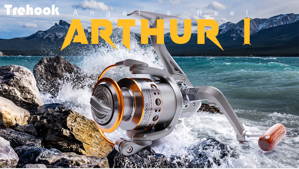 TREHOOK Super Strong 5.21 Baitcasting Reel Metal Spinning Reel Winter Fishing Accessories Sea Fishing Reels With Wooden Knob 08