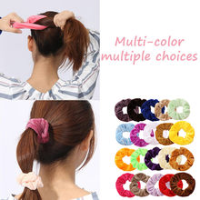 1 Pcs Velvet Scrunchie Women Girls Elastic Hair Rubber Bands Accessories Gum For Female Tie Hair Ring Rope Ponytail Holder 2019(China)