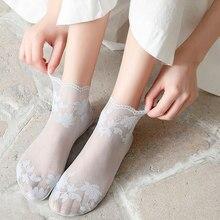 Knowdream meias de seda criativo harajuku novo produto cristal engraçado crisântemo feliz feminino meias casuais alta qualidade