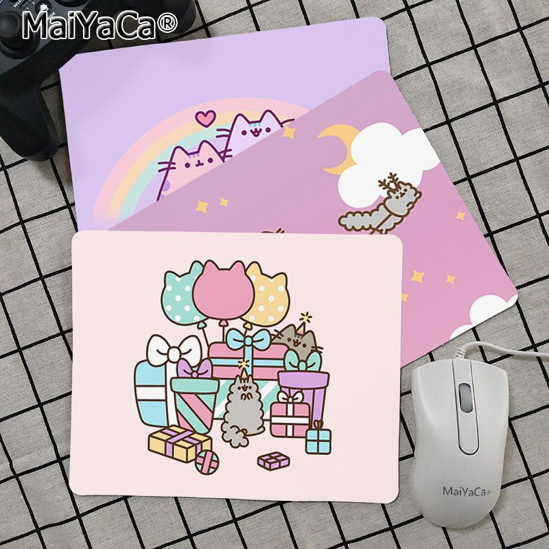 Maiya Top Quality Cute Cartoon Pusheen Cat Keyboard Gaming MousePads Top Selling Wholesale Gaming Pad Mouse