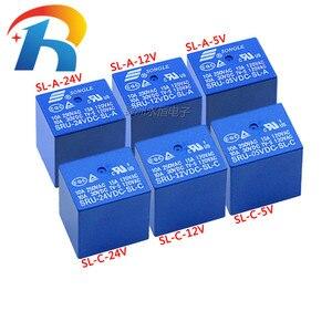 5 sztuk/partia SRU-05VDC-SL-A /SRU-12VDC-SL-A / 24VDC-SL-A /SRU-05VDC-SL-C SRU-12VDC-SL-C 24VDC-SL-C SONGLE przekaźnik mocy 4Pin 15A T70