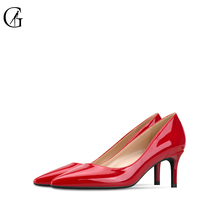 Купить с кэшбэком GOXEOU 2019 High Heels Shoes Women Pumps 6cm Woman Shoes Sexy Pointed Toe Wedding Party Shoes Stilettos  Heels Stiletto Plus Siz