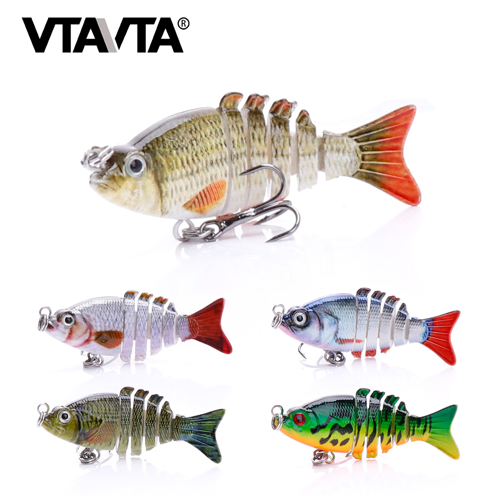 VTAVTA 5cm 2g Mini Floating Wobblers Trout Fishing Lure Hard Artificial Bait For Pike Wobbler 6 Segment Swimbait Crankbait Pesca