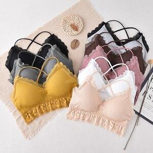 2020 Bralette Bra Women Push Up Lace Bra Triangle Bralette Sexy Seamless Wire Free Underwear Soutien Gorge Cross Back B0167