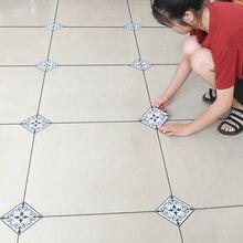10pcs/lot PVC Waterproof Tiles Diagonal Sticker 12X12cm Self adhesive wall tiles decal Furniture Bathroom 3D floor Decor sticker