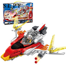 Building Blocks Toys For Children Diy Educational Kids Ultraman GUYS Boys Aircraft Assembly Model Set Kit Bricks Compatible R47 fun children s building blocks toy compatible with legoes large aircraft carrier assembly model children s building blocks toys