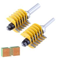 1pc 8mm 1/2 Shank 2 Teeth Adjustable Finger Joint Router Bit Tenon Cutter Industrial Grade for Wood Tool 24BA