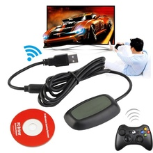 For Xbox 360 Wireless Gamepad PC Adapter USB Receiver For Microsoft Xbox 360 Game Console Controller PC Receiver With CD driver alloyseed for xbox 360 wireless controller gamepad pc adapter gaming usb receiver for microsoft xbox 360 console with cd drive