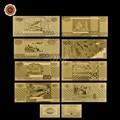 Russland 8 Modelle Papier Geld 5.10.50.100.500.1000.5000 Banknote Voll Russische Set Gold Bank Hinweis Reinem Gold Folie