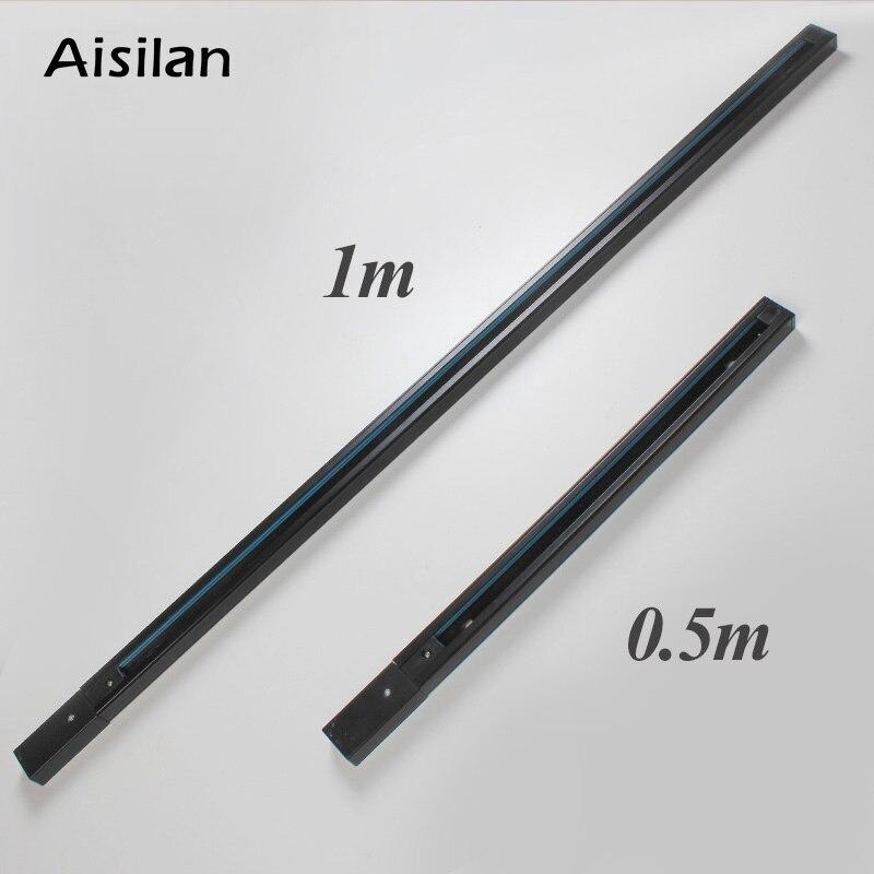 Aisilan рельсы для трекового светильника 0,5 м черный белый для прожектора алюминий + медный провод (купить трек дать Разъем бесплатно)