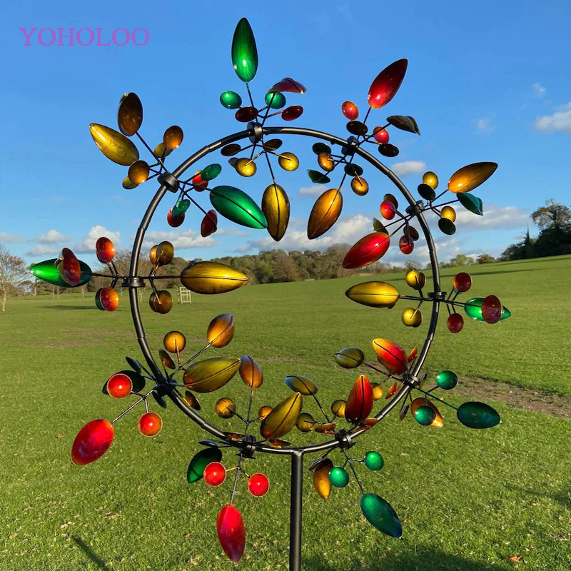 Unique And Magical Metal Windmill Outdoor Wind Spinners Wind Catchers Yard Patio Lawn Garden Decoration