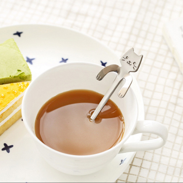Cartoon Cat Coffee Stainless Steel Kitchen Gadget Spoon55