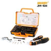JAKEMY JM 6111 69 in 1 DIY Hand Tool Set 180 Degrees Ratchet Screwdriver with Chrome Vanadium Bits Home Tools
