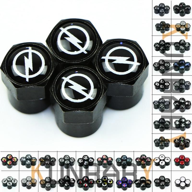 4x Car Quadrifoglio Logo Accessories Wheel Tyre Tire Valve Caps For Alfa Romeo