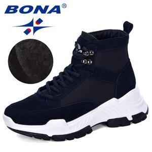 Image 5 - 善意 2019 新人デザイナースエード冬の靴女性の雪のブーツプラットフォーム暖かいアンクルブーツの女性の厚いかかとぬいぐるみbota ş mujer