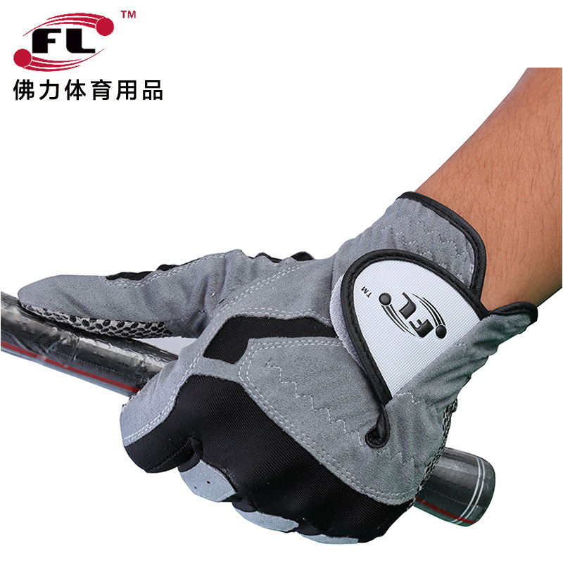 Luvas de Golfe de Couro Luvas de Treinamento de Esportes de Fitness Guanto da Golfe Macio Masculino Direita Esquerda Anti-skiding Respirável Mão