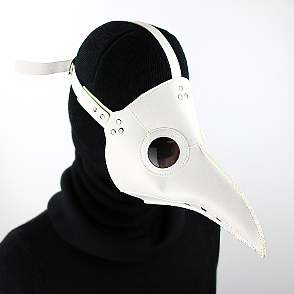Fashion Halloween PU Mask New Accessories Long Beak Plague Bird Doctor Steampunk Halloween Party Mask Costume Cosplay Prop