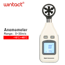 Digital Air Wind Meter Anemometer, Handheld Thermometer Tester, temperatuur En Gevoelstemperatuur Met Backlight En Max/Min