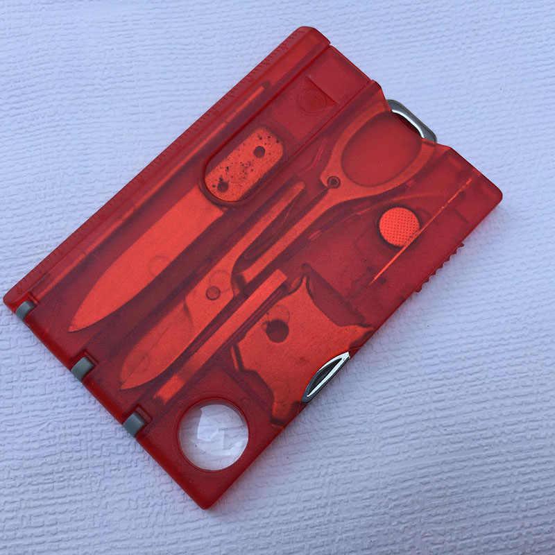 10 In1 กระเป๋าบัตรเครดิต EDC เครื่องมือกลางแจ้ง Survival Camping อุปกรณ์ 1 กล่องแบบพกพาการ์ดเครื่องมือ