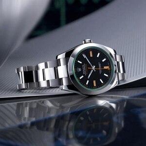 2020 New Rolex- Milgauss- man Automatic mechanical watch Leisure fashion Gift business watch Christmas gift 100 orders