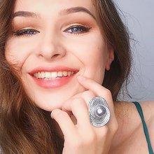 Новинка 2021 кольца с большим серым жемчугом для женщин оптовая