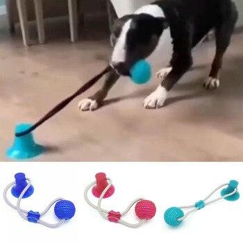 Pies interaktywna przyssawka Push TPR zabawki do gry w piłkę elastyczne liny czyszczenie zębów psa żucie gry IQ Treat zabawki szczeniak