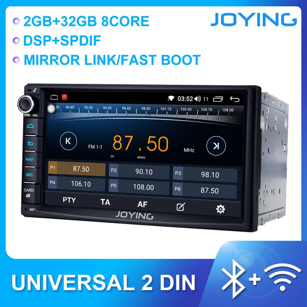 JOYING 2 din car radio player head unit 7 inch univeral 2GBRAM&32GB ROM DSP Octa Core support fast boot&split screen&mirror link image