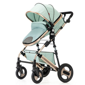 Image 3 - High view stroller light folding ultralight can sit and lie portable baby cart simple umbrella car