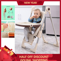 Safety Chair For Babies Eating Seats Kid Dining Table Multi function Adjustable Foldable Portable Children's High Feeding Chairs