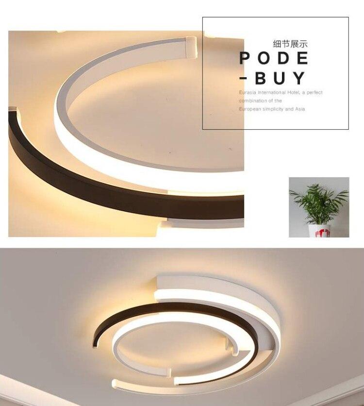 H86601208b00248139f3ec246e78b65d2J LICAN Modern LED Ceiling Lights Living room Bedroom lustre de plafond moderne luminaire plafonnier White Black LED Ceiling Lamp