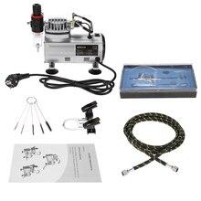 KKmoon AC-18 набор аэрографа воздушный компрессор двойного действия хобби распылитель Аэрограф набор кистей для ногтевого дизайна распылитель ...