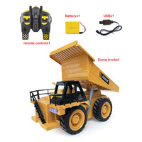 1:16 6CH 360 Degree Rotation Alloy Bucket RC Excavator Construction Vehicle Toy with Effect Trucks Kid Hobby Collection Toy Gift