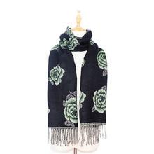 jzhifiyer scarf foulard mujer tassel acrylic shawls muslim pashmina jacquard feminino woven hajibs bandana