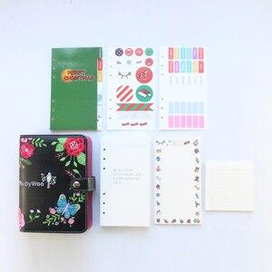 Image 5 - Domikee nette leder hardcover 6 ringe binder planer agenda organizer büro schule nachfüllbare spirale notebooks schreibwaren A5A6
