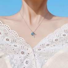 Fashionable Simple Creative Clavicle Necklace Fish Tail Pendant Mermaid Tears Foam Forest Fresh Art Pendant Necklaces for Women