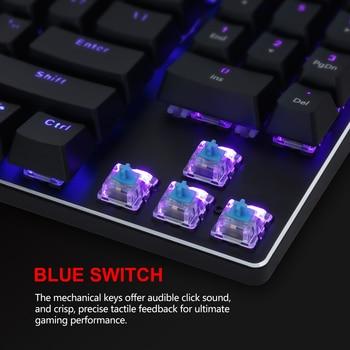 RedThunder K89 Mechanical Gaming Keyboard with Numeric Keypad Blue Switch Programmable RGB LED Backlight for Desktop PC Gamer 4