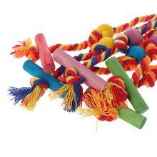 Забавные игрушки для птиц, красочные хлопковые веревки, жевательные игрушки для попугая, высокое качество, товары для животных, аксессуары N1HA