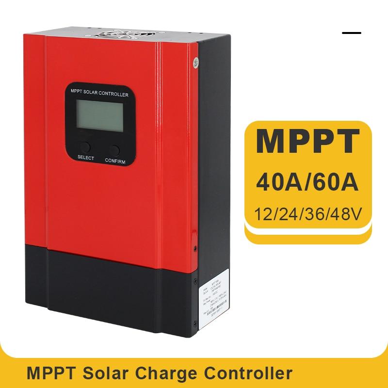 Контроллер солнечной батареи Esmart3 MPPT, устройство для зарядки аккумуляторов 24 В/12 В, с автоматическим подсветильник кой и ЖК-дисплеем, 40 А 60 А ...