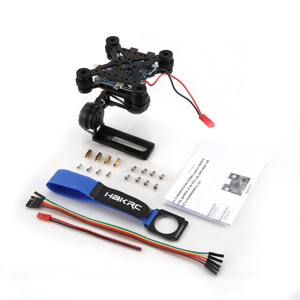 HAKRC 2-Axis CNC Metal Brushless BGC2 2 PTZ Control Panel Gimbal Stabilizer for RC Drone Camera Gopro3 DJI Phantom