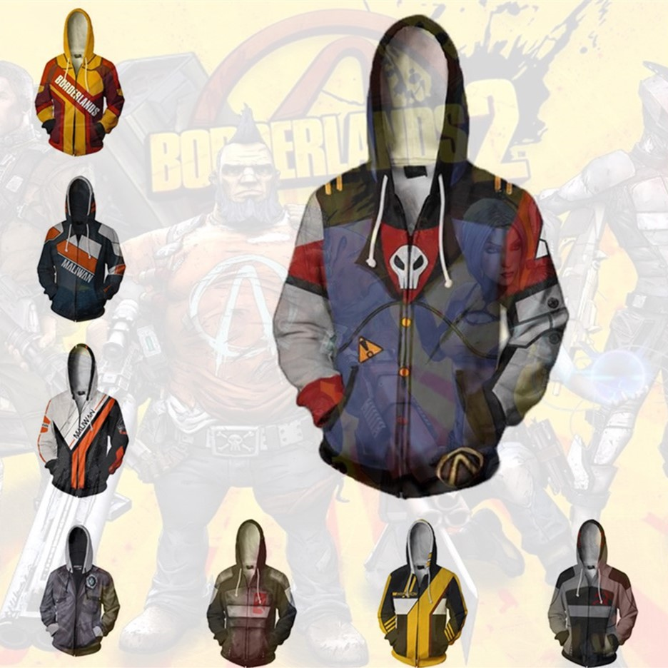Anime Sweatshirts Hoodie Game <font><b>Borderlands</b></font> jakobs hyperion Cosplay <font><b>Costume</b></font> Men Women Jackets Coat Top image