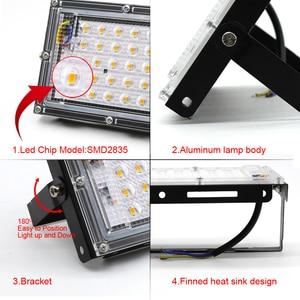 Image 4 - 4 sztuk 50W LED światło halogenowe AC 220V 240V projektor IP65 reflektor reflektor LED lampa uliczna światło zewnętrzne oświetlenie