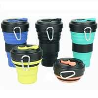 Creative 550ml Folding Silicone Cup Travel Portable Water Cup Silica Coffee Mug Telescopic Drinking Collapsible Mugs