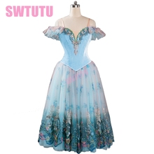 sleeping beauty ballet dress romantic adult giselle tutu blue professonal women ballerina dressBT9116